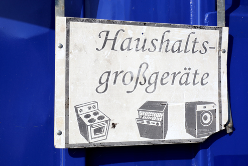 Entsorgungszentrum Container Haushaltsgroßgeräte